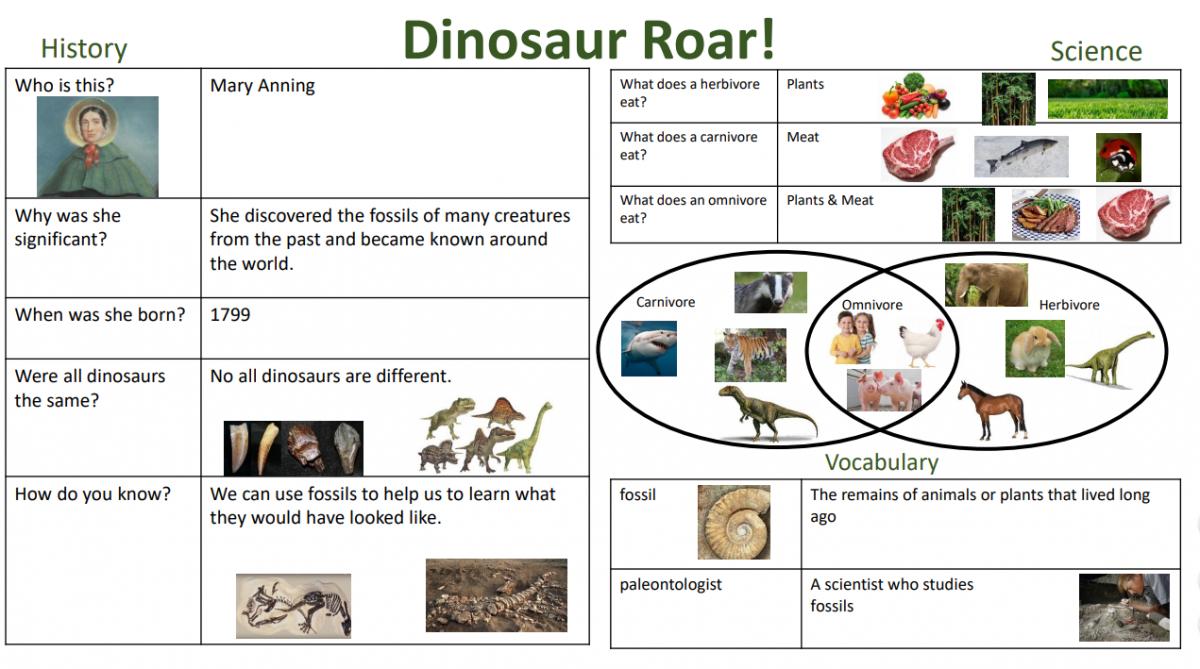 Dinosaur roar Yr 1 KO